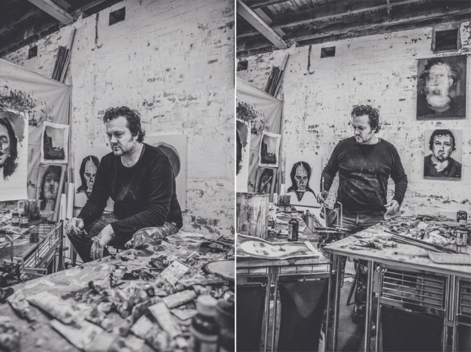 Steve Salo in studio, photograph by Joshua Maxwell de Hoog