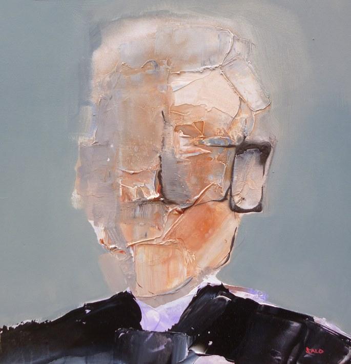 Steve Salo, Confessions of a Guilty Priest.exploration of paint and portraiture   STEVE SALO