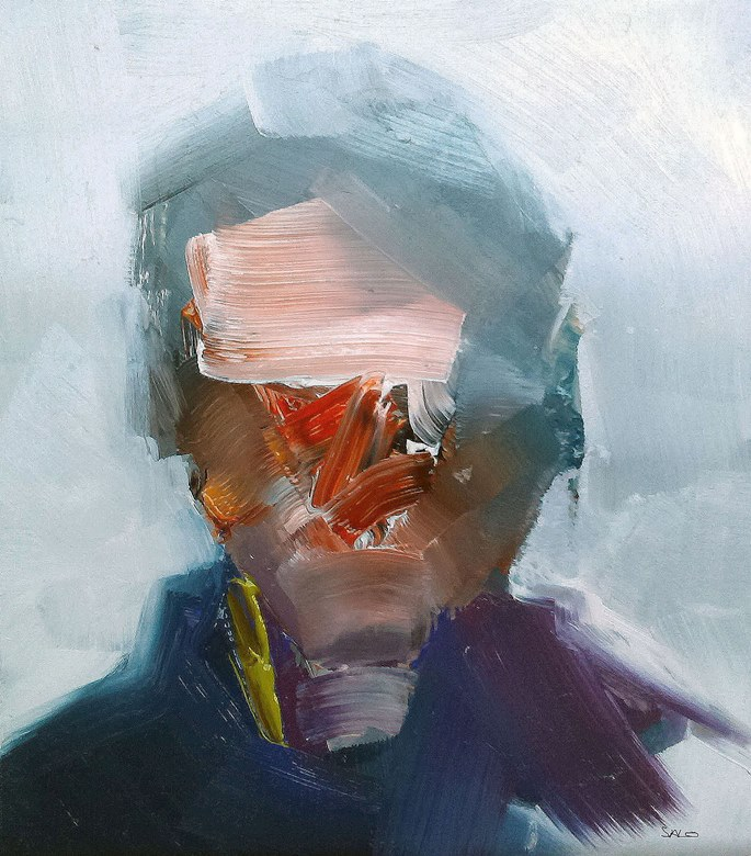 Steve Salo, Passerby Flinders Street.exploration of paint and portraiture   STEVE SALO