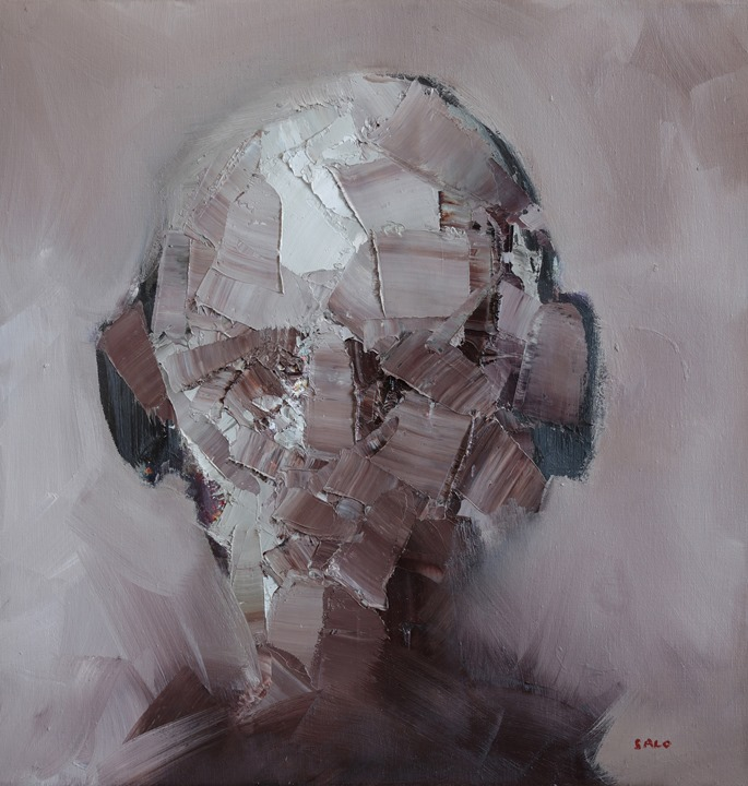 Steve Salo, Portrait of a Man Wearing Headphones